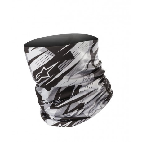 BRAGA ALPINESTARS BLURRED NECK TUBE NEGRO ANTRACITA