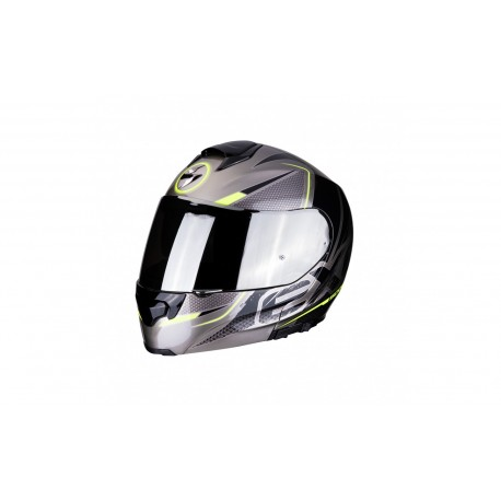 CASCO SCORPION EXO 3000 CREED TITANIO NEGRO AMARILLO FLUOR