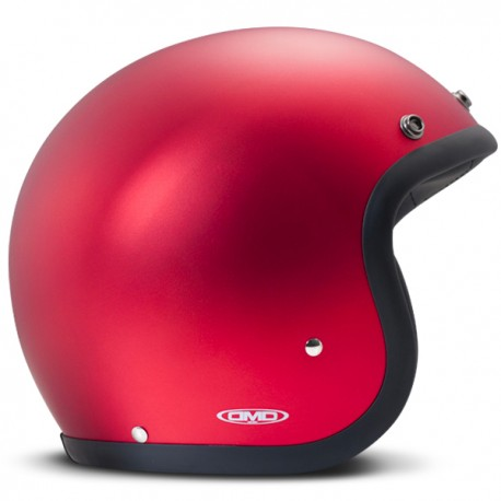 CASCO DMD VINTAGE METALLIC ROJO