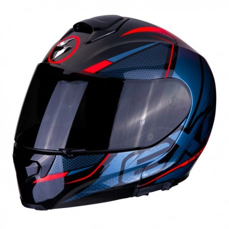 CASCO SCORPION EXO 3000 AIR CREED NEGRO ROJO