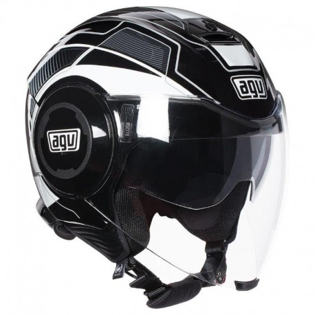 CASCO AGV FLUID SOHO NEGRO BLANCO