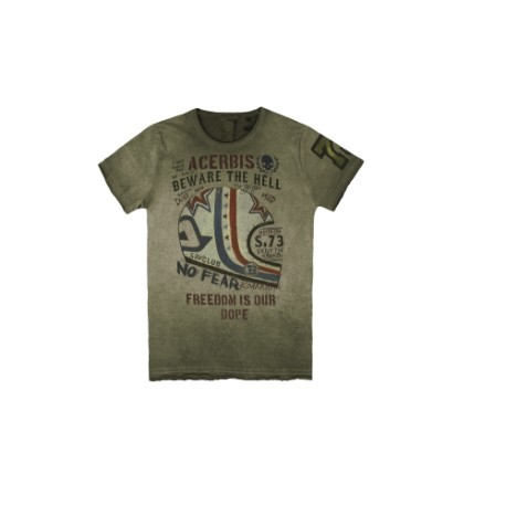 CAMISETA ACERBIS T-SHIRT SP CLUB ROAR VERDE