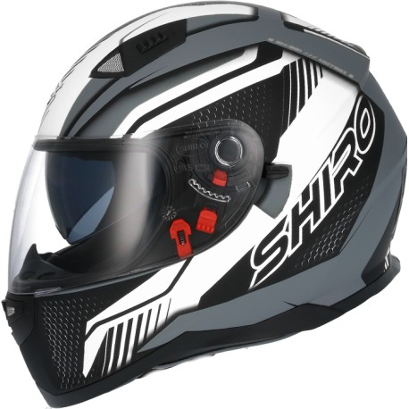 CASCO SHIRO SH-881 SV MOTEGI II NEGRO MATE BLANCO