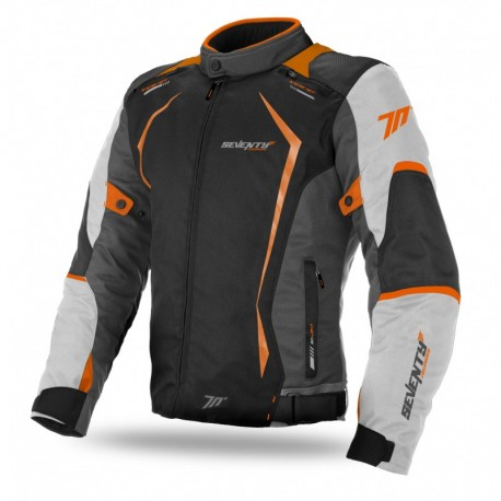 CHAQUETA SEVENTY DEGREES JR47 GRIS NARANJA