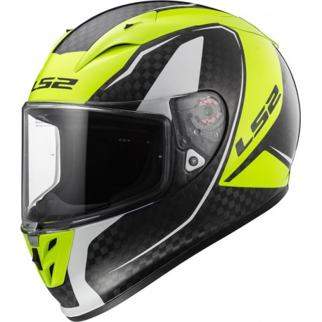 CASCO LS2 FF323 ARROW C EVO FURY CARBON AMARILLO FLUOR
