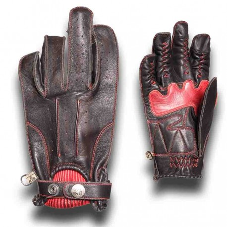 GUANTES BY CITY SECOND SKIN NEGRO ROJO