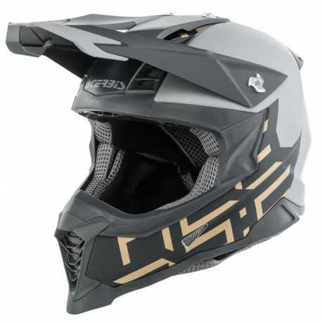CAPACETE ACERBIS X-RACER VTR CINZA OURO