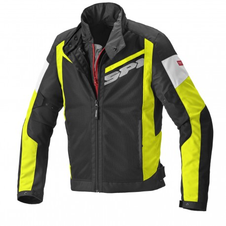 CHAQUETA SPIDI BREEZY NET H2OUT NEGRO AMARILLO FLUOR