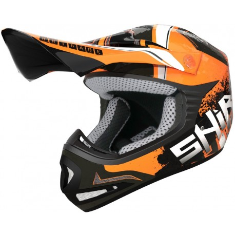 CASCO SHIRO MX 306 BRIGADE KID II NARANJA FLUOR