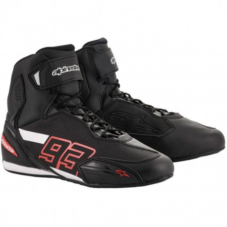 ZAPATILLAS ALPINESTARS AUTIN RIDING NEGRO ROJO