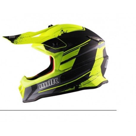 CASCO UNIK CX 20 REX JUNIOR AMARILLO FLUOR NEGRO
