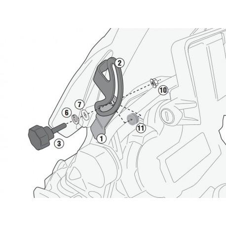KIT CUPULA GIVI BMW 1200GS ADV