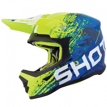 CASCO SHOT COUNTER KID AZUL AMARILLO FLUOR