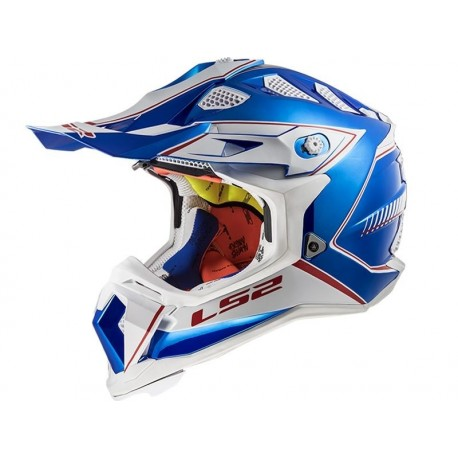 CASCO LS2 MX470 SUBVERTER POWER CRHROME AZUL