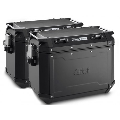 PACK MALETAS LATERALES GIVI OUTBACK 37 LT NEGRO