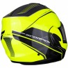 CASCO SCORPION EXO-TECH TIME OFF MARILLO FLUOR PLATA