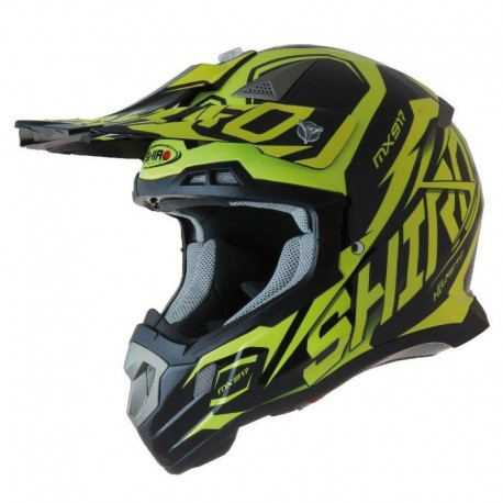 CASCO SHIRO MX 917 THUNDER KID AMARILLO FLUOR