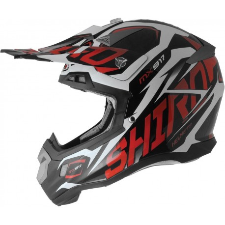 CASCO SHIRO MX 917 THUNDER KID ROJO