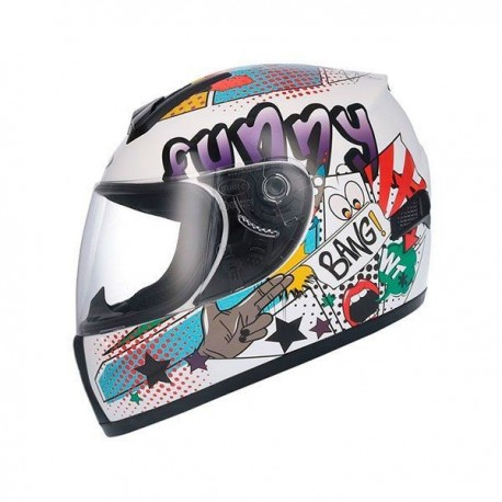 CASCO SHIRO SH829 COMIC II BLANCO