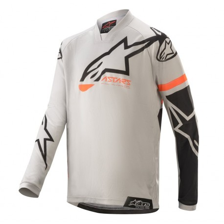 JERSEY ALPINESTARS YOUTH RACER COMPAS GRIS NEGRO