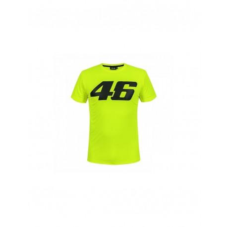 T-SHIRT VR46 CORE 46 GRANDE AMARELO FLUOR