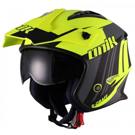 CASCO UNIK TRIAL CT-07 R-GRAFF AMARILLO NEGRO GRIS