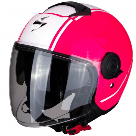 CASCO SCORPION EXO-CITY AVENUE ROSA BLANCO