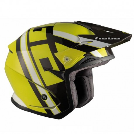 CAPACETE HEBO TRIAL ZONE 5 T-NINE LIMA