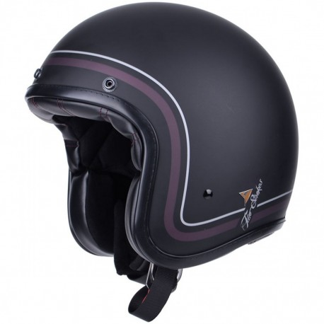 CASCO BY CITY TWO STROKES NEGRO MATE