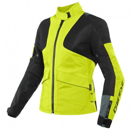 CHAQUETA DAINESE AIR TOURER LADY TEX AMARILLO FLUOR EBONY NEGRO