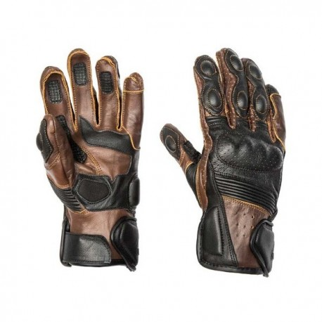 GUANTES BY CITY RIDER MARRÓN ANTE