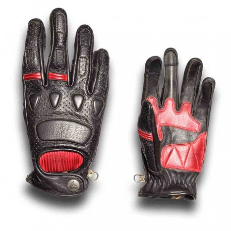 GUANTES BY CITY PILOT NEGRO ROJO