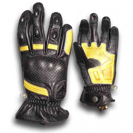 GUANTES BY CITY RETRO II NEGRO AMARILLO