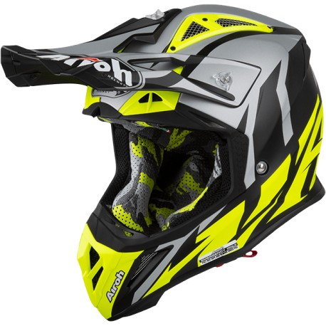 CASCO AIROH AVIATOR 2.3 AMS2 GREAT AMARILLO FLUOR MATE