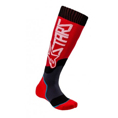 CALCETA ALPINESTARS YOUTH MX PLUS 2 ROJO