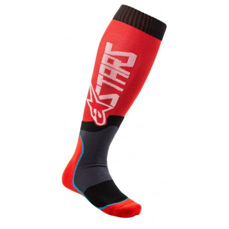 CALCETA ALPINESTARS MX PLUS 2 ROJO