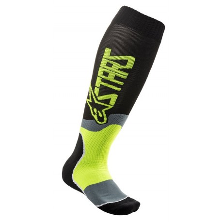 CALCETAS ALPINESTARS MX PLUS 2 NEGRO AMARILLO FLUOR