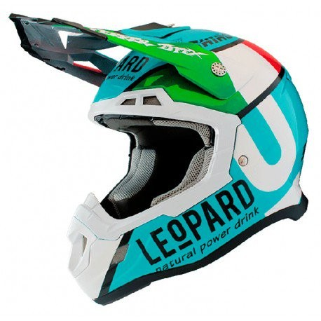 CASCO SHIRO MX 917 LEOPARD AZUL