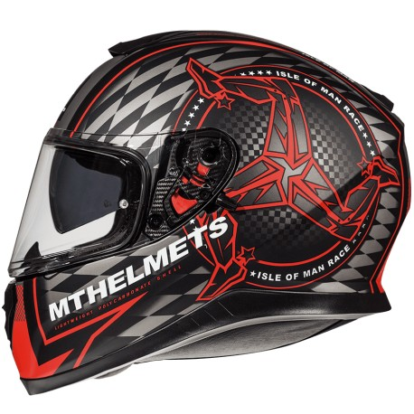 CASCO MT FF102SV THUNDER3 SV ISLE OF MAN B5 ROJO MATE