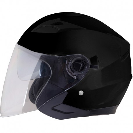 CASCO SHIRO SH 451 MONOCOLOR NEGRO MATE