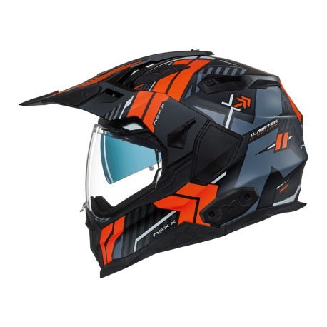 CASCO NEXX X WED2 WILD COUNTRY NEGRO NARANJA