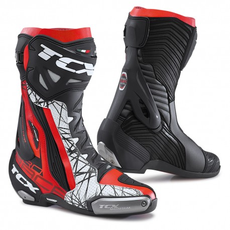 BOTAS TCX RT-RACE PRO AIR NEGRO ROJO BLANCO
