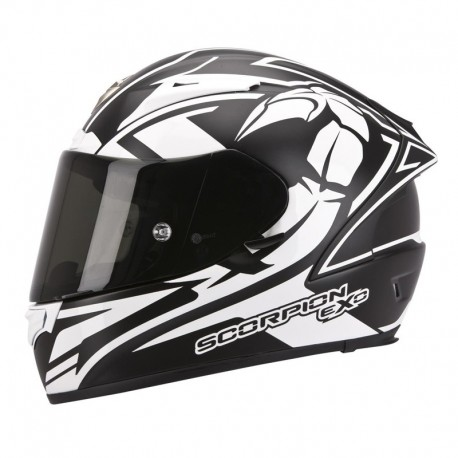 CASCO SCORPION EXO 2000 EVO AIR TRACK NEGRO MATE BLANCO