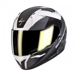 CASCO SCORPION EXO410 SLICER BLANCO NEGRO GRIS