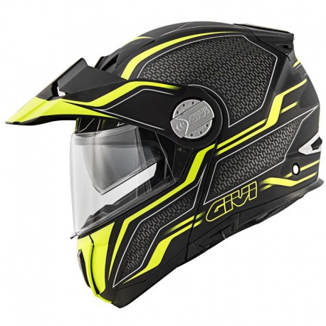 CASCO GIVI X33 CANYON LAYERS NEGRO MATE AMARILLO FLUOR