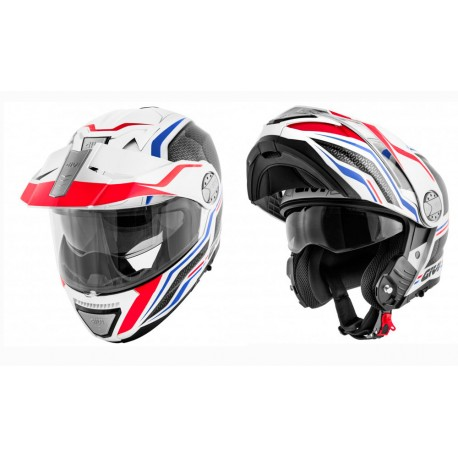 CASCO GIVI X33 CANYON LAYERS BLANCO ROJO AZUL