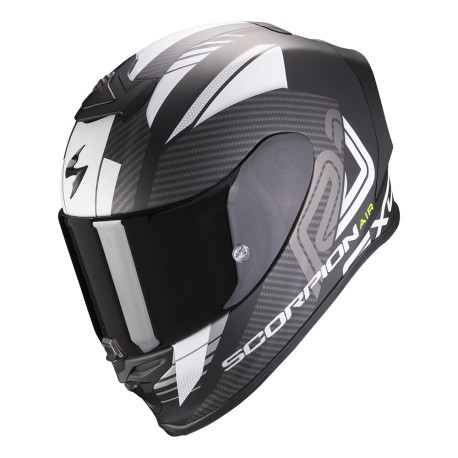 CASCO SCORPION EXO-R1 HALLEY NEGRO MATE BLANCO