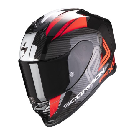 CASCO SCORPION EXO-R1 HALLEY NEGRO ROJO