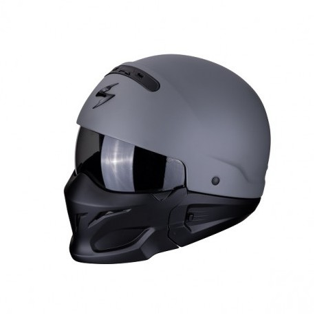 CASCO SCORPION EXO COMBAT SOLID GRIS MATE