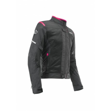 CHAQUETA ACERBIS RAMSEY MY VENTED 2.0 LADY NEGRO ROSA
